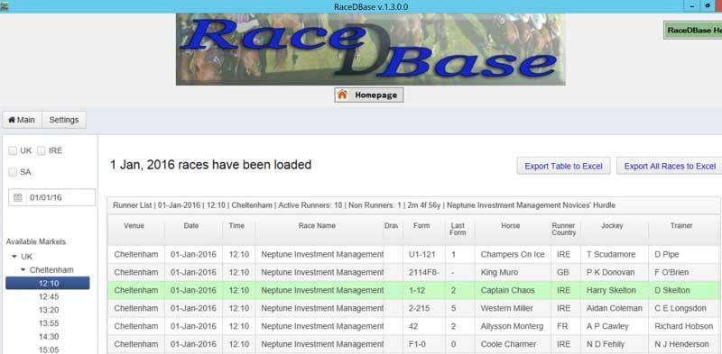 Race D Base Review Interface