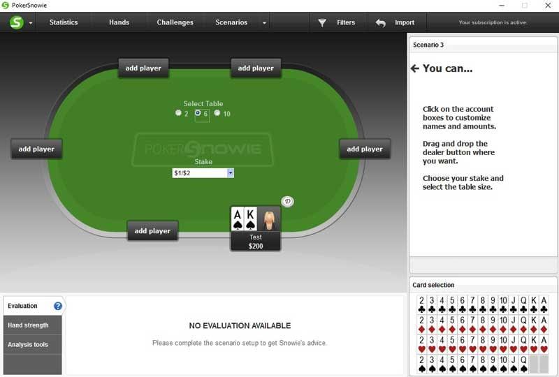 PokerSnowie Review Scenarios