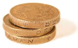 Three pound coins