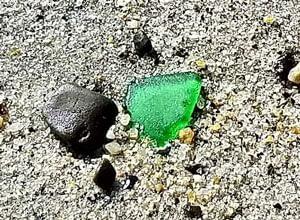 Capo Beach green sea glass.
