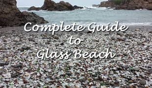 Sea glass on Glass Beach, Fort Bragg.