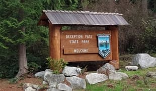 Entrance to Deception Pass State Park