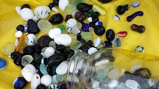 Art sea glass from Davenport, California