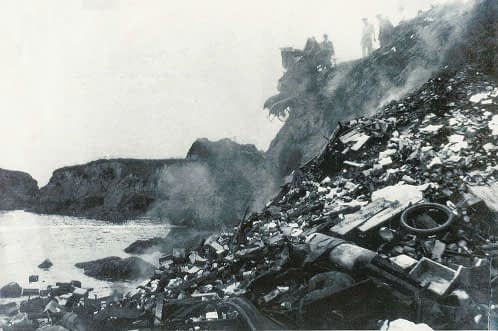 Fort Bragg dump which led to the formation of Glass Beach