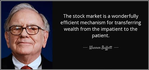 Warren Buffett quote about patient and impatient stock market traders
