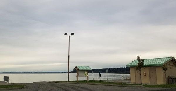 Boat ramp at Bush Point Beach on Whidbey Island, Washington.