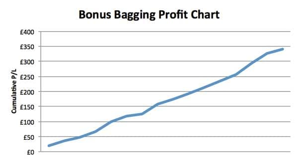 Bonus Bagging review: profit chart