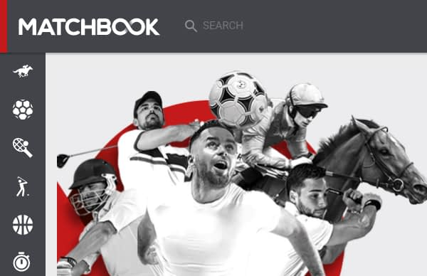 The Matchbook.com betting exchange website as it appeared in April 2017.