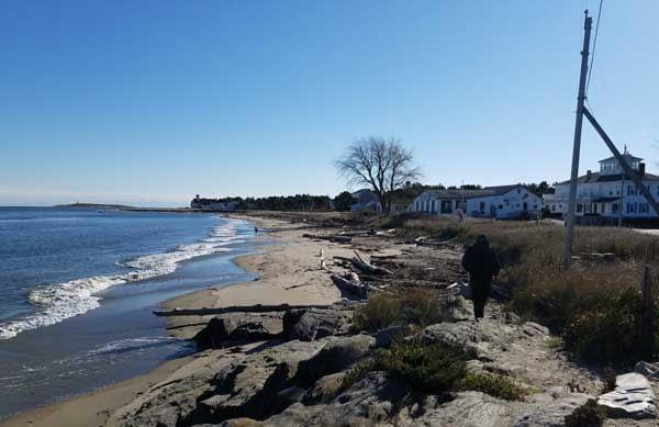 View of beach near Fort Popham.