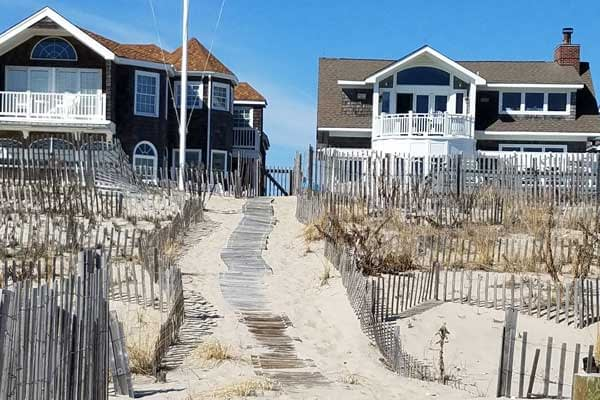 View of two beach houses on Point Pleasant beach.
