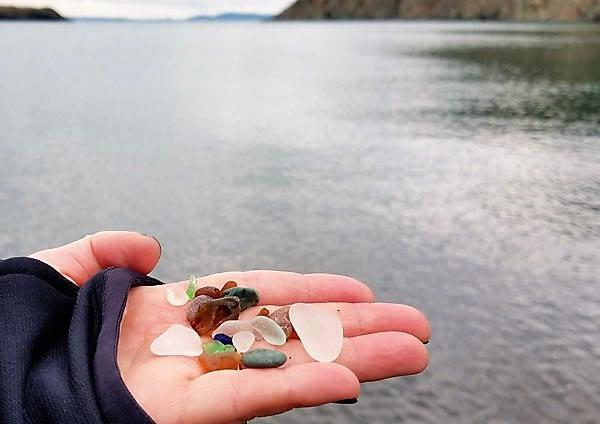 Rosario Beach, Whidbey Island, Washington sea glass