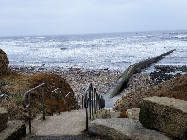 Stairs to Ryhope beach.