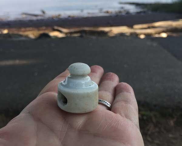 White Porcelain Ceramic Bottle Stopper
