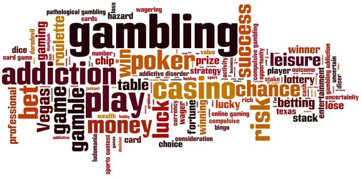 Word cloud based on betting, trading and gambling phrases.