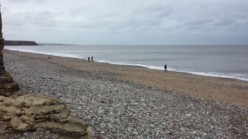 Seaham Hall Beach, Durham during February 2016